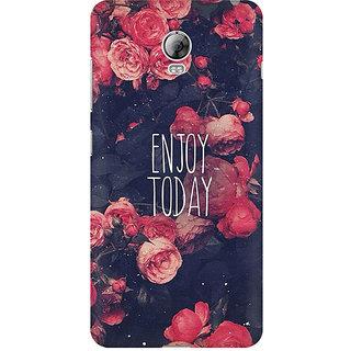 RAYITE Enjoy Today Premium Printed Mobile Back Case Cover For Lenovo Vibe P1