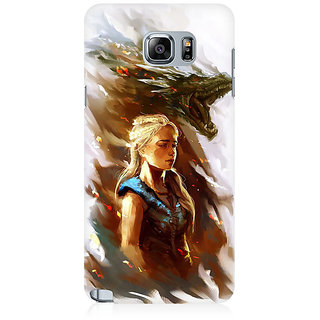 RAYITE Mother Of Dragons Premium Printed Mobile Back Case Cover For Samsung Note 5