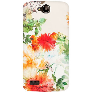 RAYITE Watercolor Flower Premium Printed Mobile Back Case Cover For Huawei Honor Holly