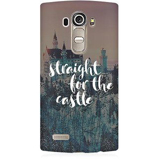 RAYITE Straight For The Castle Premium Printed Mobile Back Case Cover For LG G4
