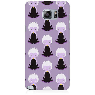 RAYITE Purple Mermaids Pattern Premium Printed Mobile Back Case Cover For Samsung Note 5