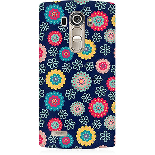 RAYITE Cute Flower Print Premium Printed Mobile Back Case Cover For LG G4