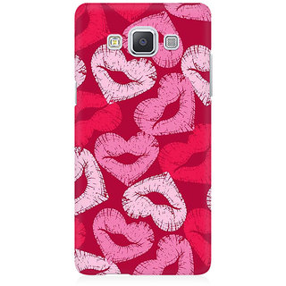 RAYITE Kisses Pattern Premium Printed Mobile Back Case Cover For Samsung A5