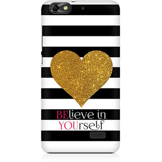 RAYITE Believe Premium Printed Mobile Back Case Cover For Huawei Honor 4C