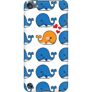 RAYITE Whale Pattern Preum Printed Mobile Back Case Cover For  IPod Touch 6