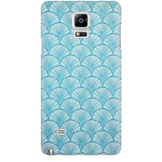 RAYITE Vintage Pattern Premium Printed Mobile Back Case Cover For Samsung Note 4