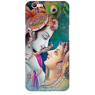RAYITE Radha Krishna Premium Printed Mobile Back Case Cover For Oppo F1s