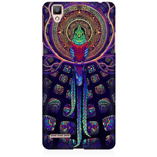 RAYITE Holy Parrot Premium Printed Mobile Back Case Cover For Oppo F1 Plus