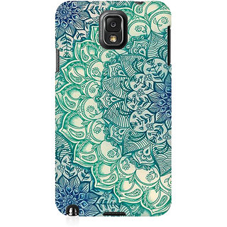 RAYITE Mandala Abstract Premium Printed Mobile Back Case Cover For Samsung Note 3
