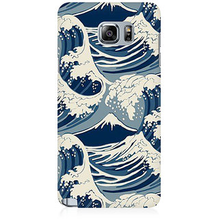 RAYITE Sea Waves Premium Printed Mobile Back Case Cover For Samsung Note 5