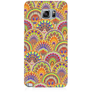 RAYITE Glow Mandala Pattern Premium Printed Mobile Back Case Cover For Samsung Note 5