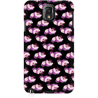 RAYITE Cute Toons Pattern Premium Printed Mobile Back Case Cover For Samsung Note 3