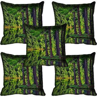 meSleep Nature Digital printed Cushion Cover (18x18) - 18CD-58-050-05