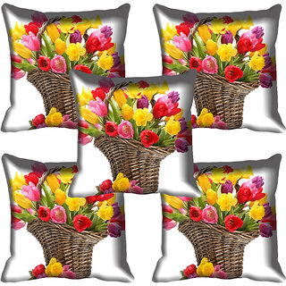 meSleep Flower Digital printed Cushion Cover (18x18) - 18CD-59-047-05