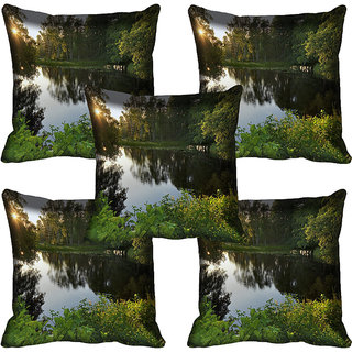 meSleep Nature Digital printed Cushion Cover (18x18) - 18CD-59-222-05