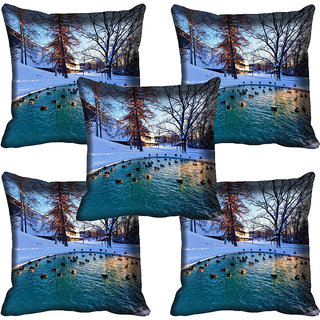 meSleep Nature Digital printed Cushion Cover (12x12) - 12CD-61-068-05