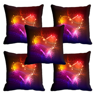 meSleep 3D Multi Colour Heart Cushion Cover (12x12) - 12CD-92-182-S5