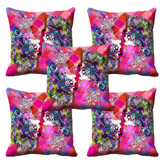 meSleep Abstract Pink  Cushion Cover (12x12) - 12CD-92-194-S5
