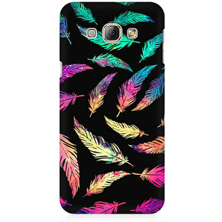 RAYITE Colourful Leaf Premium Printed Mobile Back Case Cover For Samsung A3