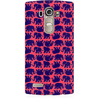 RAYITE Elephant Pattern Premium Printed Mobile Back Case Cover For LG G4