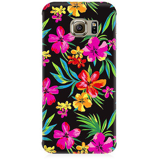 RAYITE Dark Watercolor Floral Premium Printed Mobile Back Case Cover For Samsung Note 5 Edge