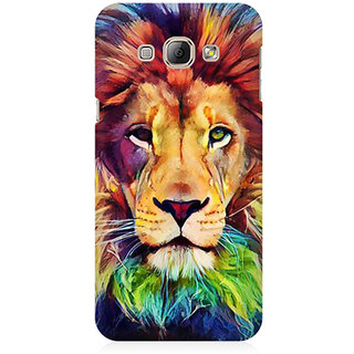 RAYITE Lion Abstract Premium Printed Mobile Back Case Cover For Samsung A3
