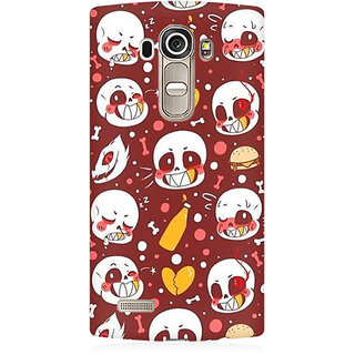 RAYITE Cute Skulls Premium Printed Mobile Back Case Cover For LG G4