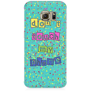 RAYITE Dont Touch My Phone Premium Printed Mobile Back Case Cover For Samsung Note 5 Edge