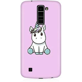 RAYITE Cute Unicorn Premium Printed Mobile Back Case Cover For LG K10
