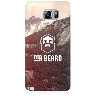RAYITE Mr Beard Premium Printed Mobile Back Case Cover For Samsung Note 5