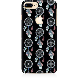 RAYITE Dream Catcher Pattern Premium Printed Mobile Back Case Cover For Apple IPhone 7 Plus Apple Logo Cut