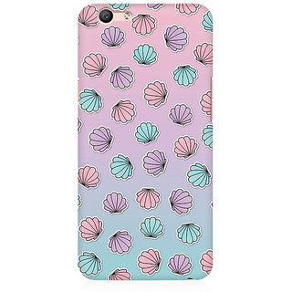RAYITE Shells Pattern Premium Printed Mobile Back Case Cover For Oppo F1s