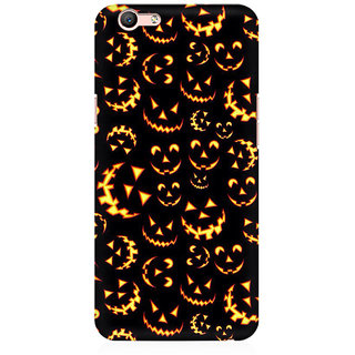 RAYITE Halloween Pattern Premium Printed Mobile Back Case Cover For Oppo F1s