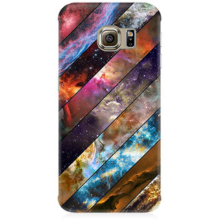 RAYITE Galaxy Wood Pattern Premium Printed Mobile Back Case Cover For Samsung Note 5 Edge