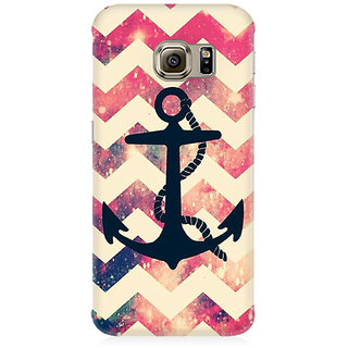 RAYITE Anchor Chevron Premium Printed Mobile Back Case Cover For Samsung Note 5 Edge