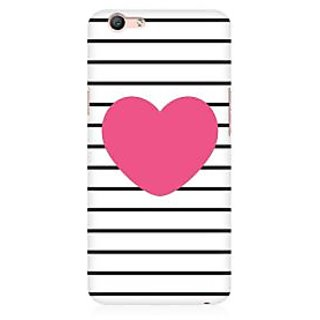 RAYITE Pink Heart Premium Printed Mobile Back Case Cover For Oppo F1s