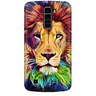 RAYITE Lion Abstract Premium Printed Mobile Back Case Cover For LG K10