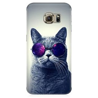 RAYITE Cool Cat Premium Printed Mobile Back Case Cover For Samsung Note 7