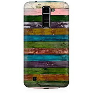 RAYITE Vintage Wood Premium Printed Mobile Back Case Cover For LG K7