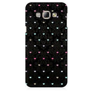 RAYITE Little Hearts Pattern Premium Printed Mobile Back Case Cover For Samsung A3