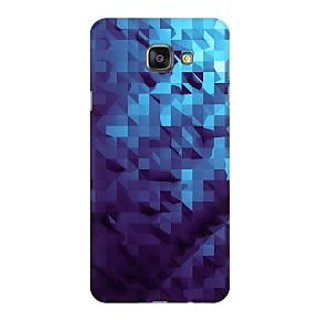 RAYITE Blue Geometric Art Premium Printed Mobile Back Case Cover For Samsung A5 2016