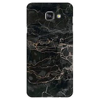 RAYITE Black Shattered Marble Premium Printed Mobile Back Case Cover For Samsung A5 2016
