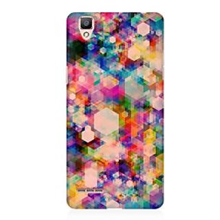 RAYITE Hazy Geometric Abstract Premium Printed Mobile Back Case Cover For Oppo R9
