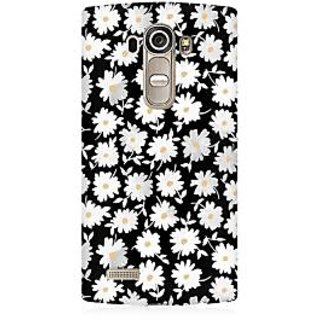 RAYITE White Daisy Pattern Premium Printed Mobile Back Case Cover For LG G4