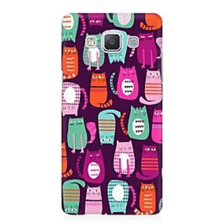 RAYITE Cat Pattern Premium Printed Mobile Back Case Cover For Samsung A5