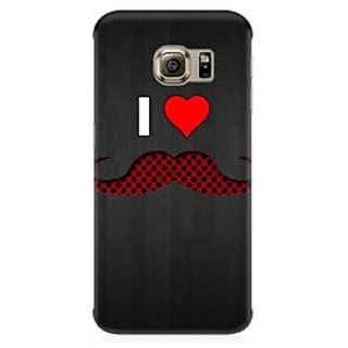 RAYITE I Love Moustache Premium Printed Mobile Back Case Cover For Samsung Note 5 Edge