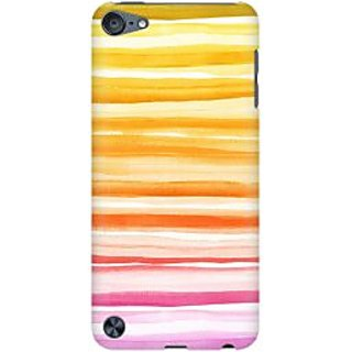 RAYITE Orange Pattern Premium Printed Mobile Back Case Cover For Apple IPod Touch 6