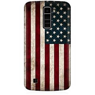 RAYITE Classic American Flag Premium Printed Mobile Back Case Cover For LG K10