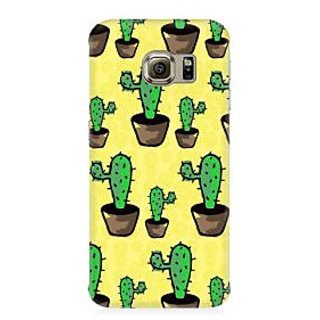 RAYITE Classic Cactus Pattern Premium Printed Mobile Back Case Cover For Samsung Note 5 Edge