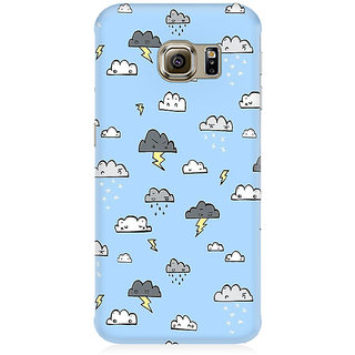 RAYITE Cute Cloud Premium Printed Mobile Back Case Cover For Samsung Note 7